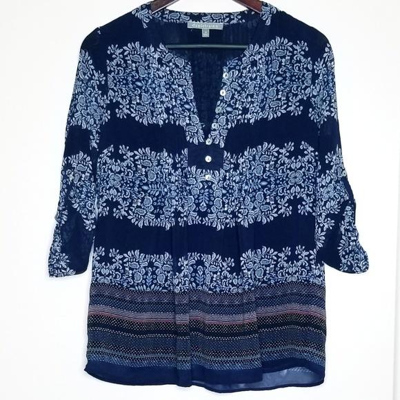 70c4673b739c5d Daniel Rainn Tops   Blue Floral Blouse   Poshmark